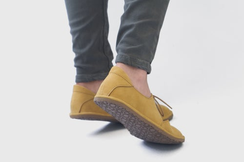 Image of Derby Ballet flats in Yellow Nubuck