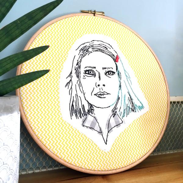 Image of Broderie / Embroidery / Margot Tenenbaum de La famille Tenenbaum