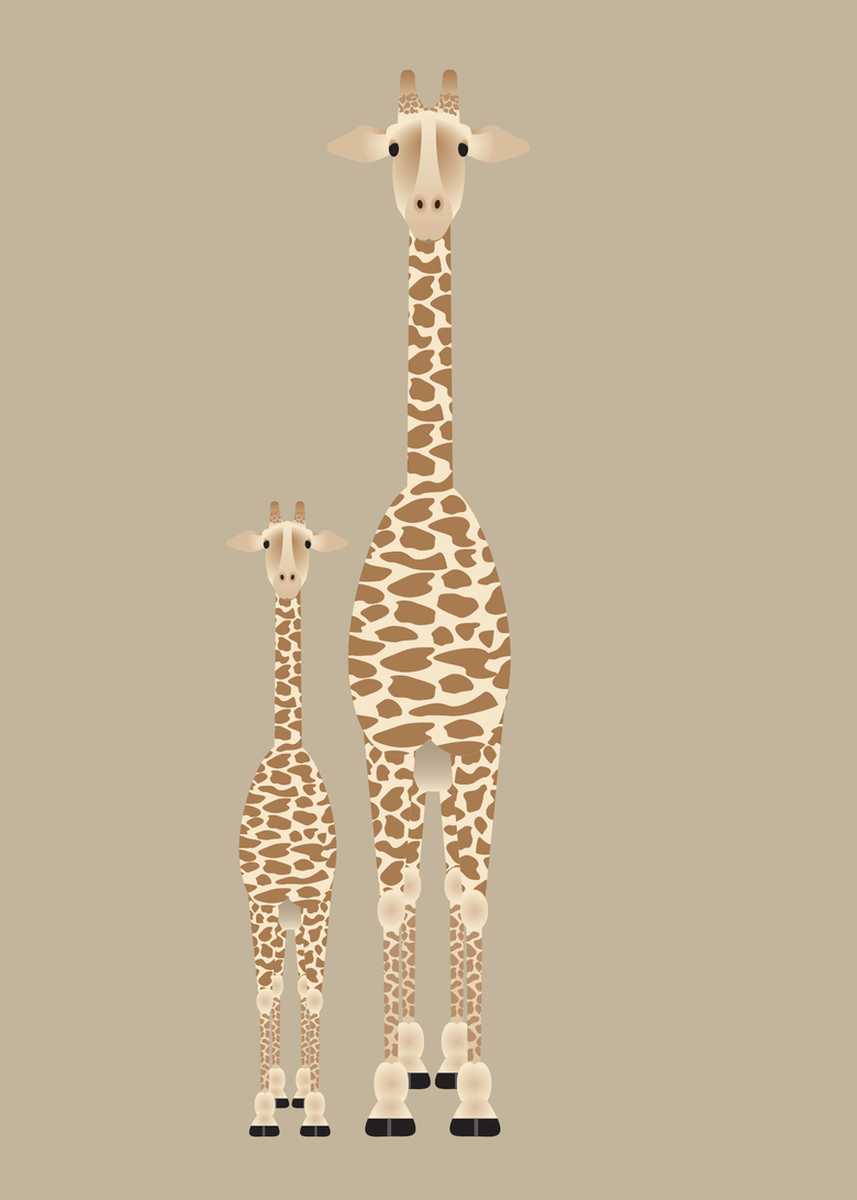 Image of Giraffe and Elephant Collection