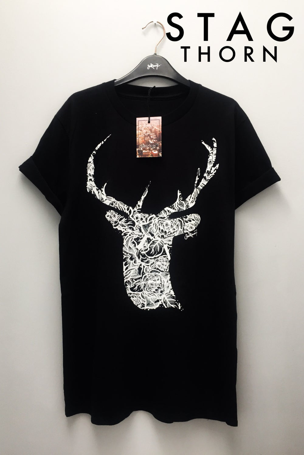 Image of STAG FLORAL  / NIGHT / POLKA / THORN