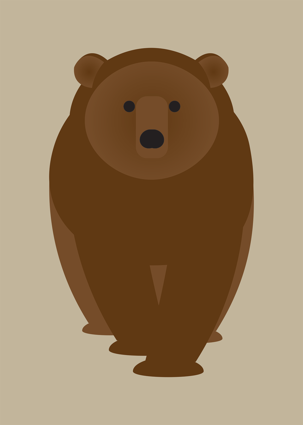 Armadillo, Brown Bear, Opossum, Raccoon Collection