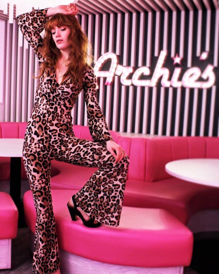 Image of SALE PRICE! Peggy Leopard Jumpsuit