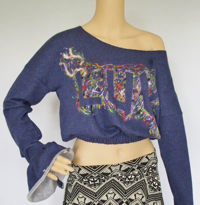 "Image of                Kima's Luv ""Splash Paint""  Crop Jumpers"