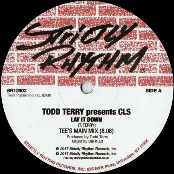 Image of Todd Terry presents CLS - Lay It Down SR12902
