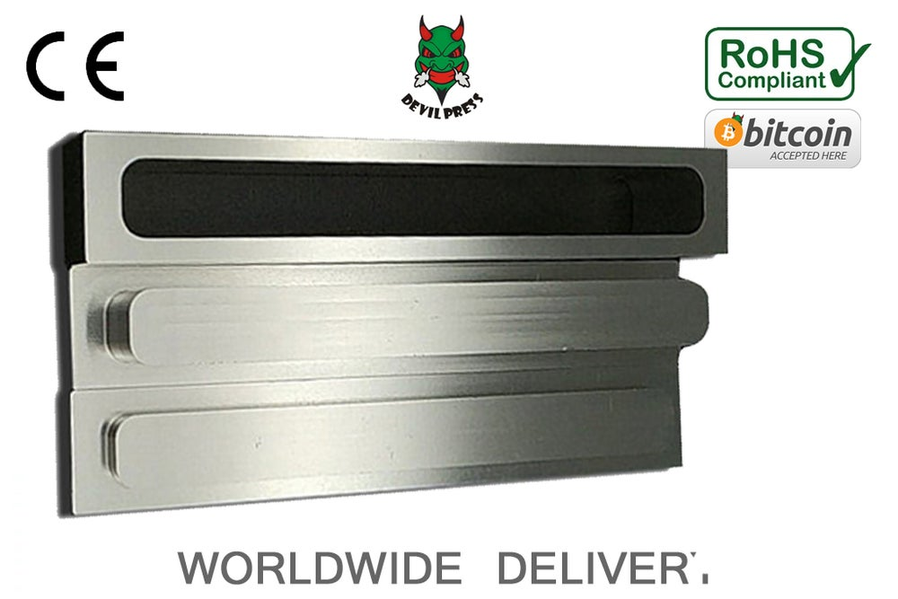 "Image of DEVILPRESS™ 1""x 6"" ROSIN PRE PRESS MOLD ALUMINIUM"