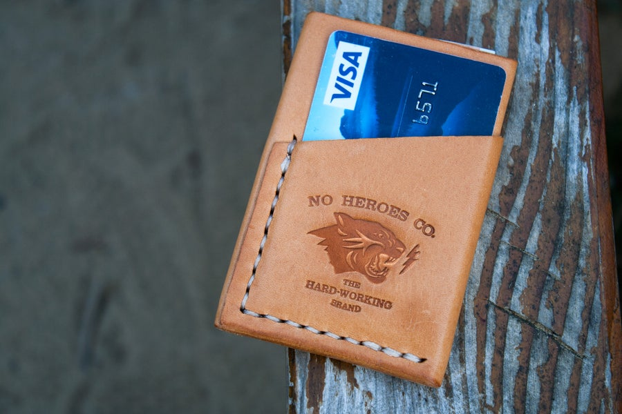"Image of El Primero — ""Natural Tan"" Italian Cowhide Leather Wallet"