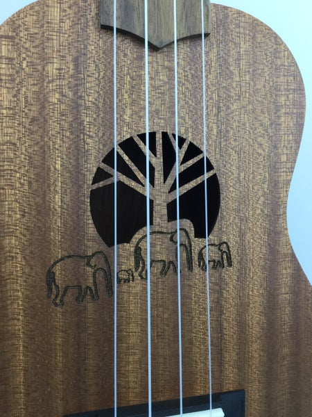 Image of Amahi Elephant Soprano or Concert Size Ukulele Model UK-130