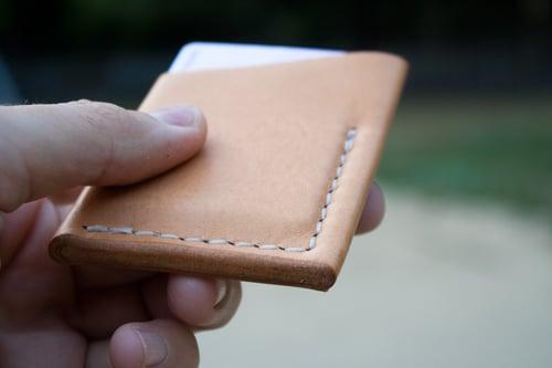 "Image of El Primero — ""Natural Tan"" Italian Cowhide Leather Wallet"
