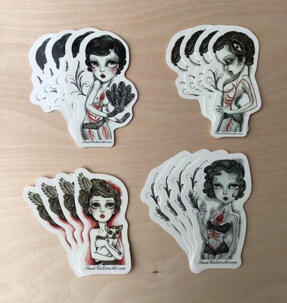 """Image of """"Four Mother's"""" sticker pack"""