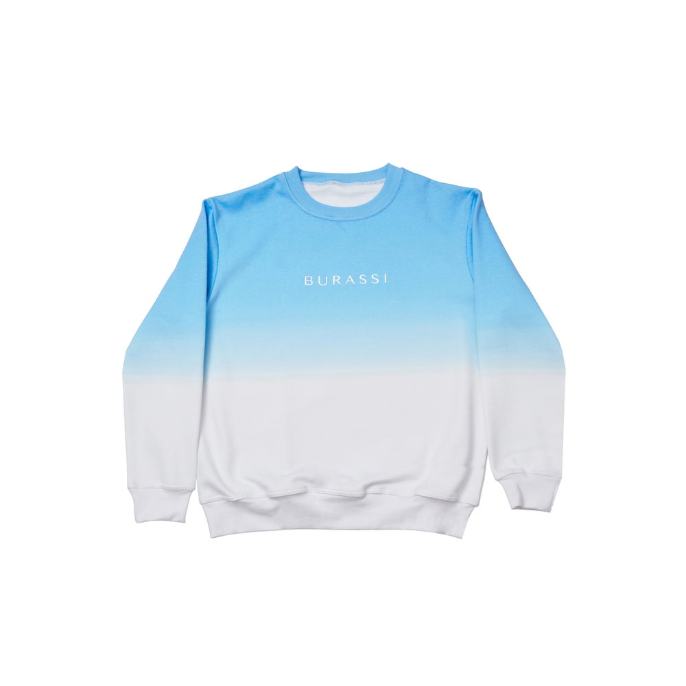 Image of Dip Dye Crewneck (Blue)