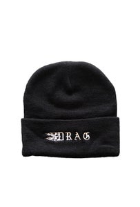 Image of DRAG TRIBAL BEANIE <BR> BLACK