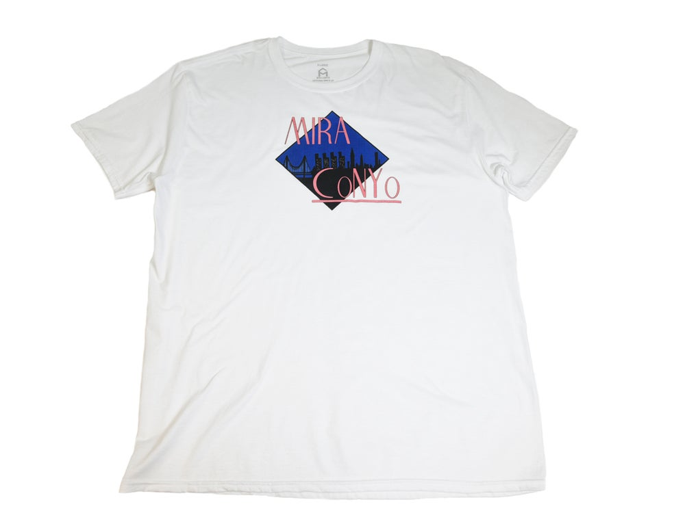 "Image of White ""NYC SKYLINE"" Tee"