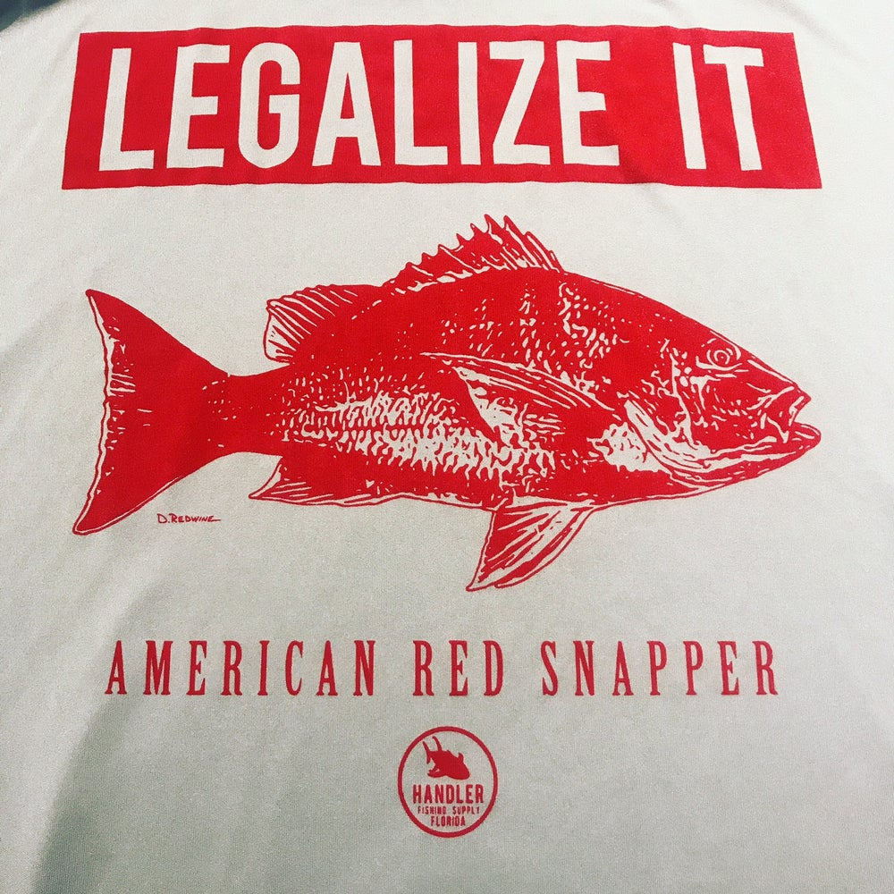 Image of 'Legalize It' Red Snapper Shirt (Long Sleeve DRY FIT- ICE GRAY)