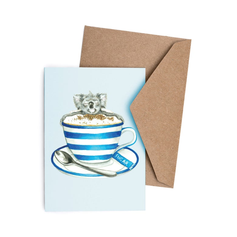 Image of Cappuccino Koala Greeting Card