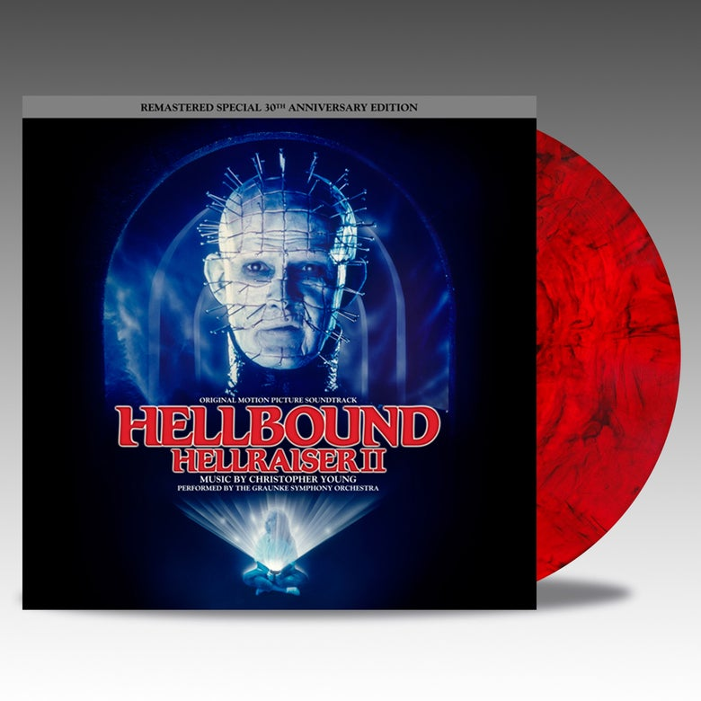 Image of Hellbound: Hellraiser II 30th Anniversary Edition - 'Red/Black Bloodshed' Vinyl - Christopher Young
