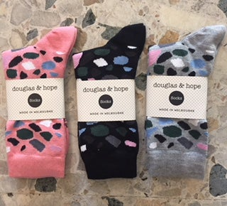 Image of terrazzo douglas & hope cotton socks