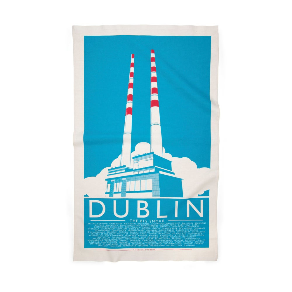 Image of Pigeon house tea towel