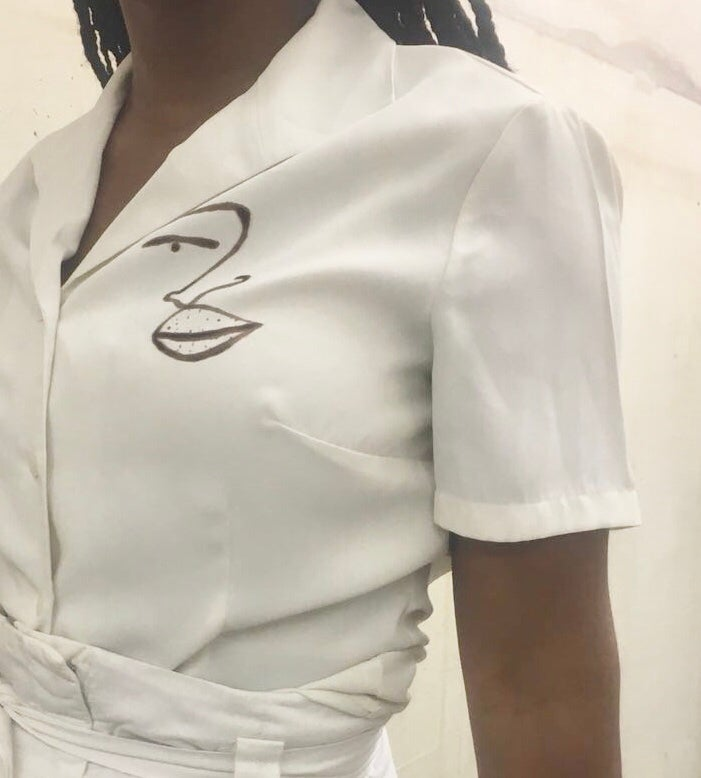 Image of nonchalant blouse