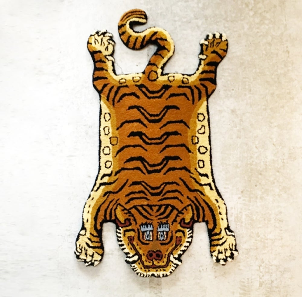 Image of Handcraft Tibetan Wool Tiger Rug A - 4 sizes