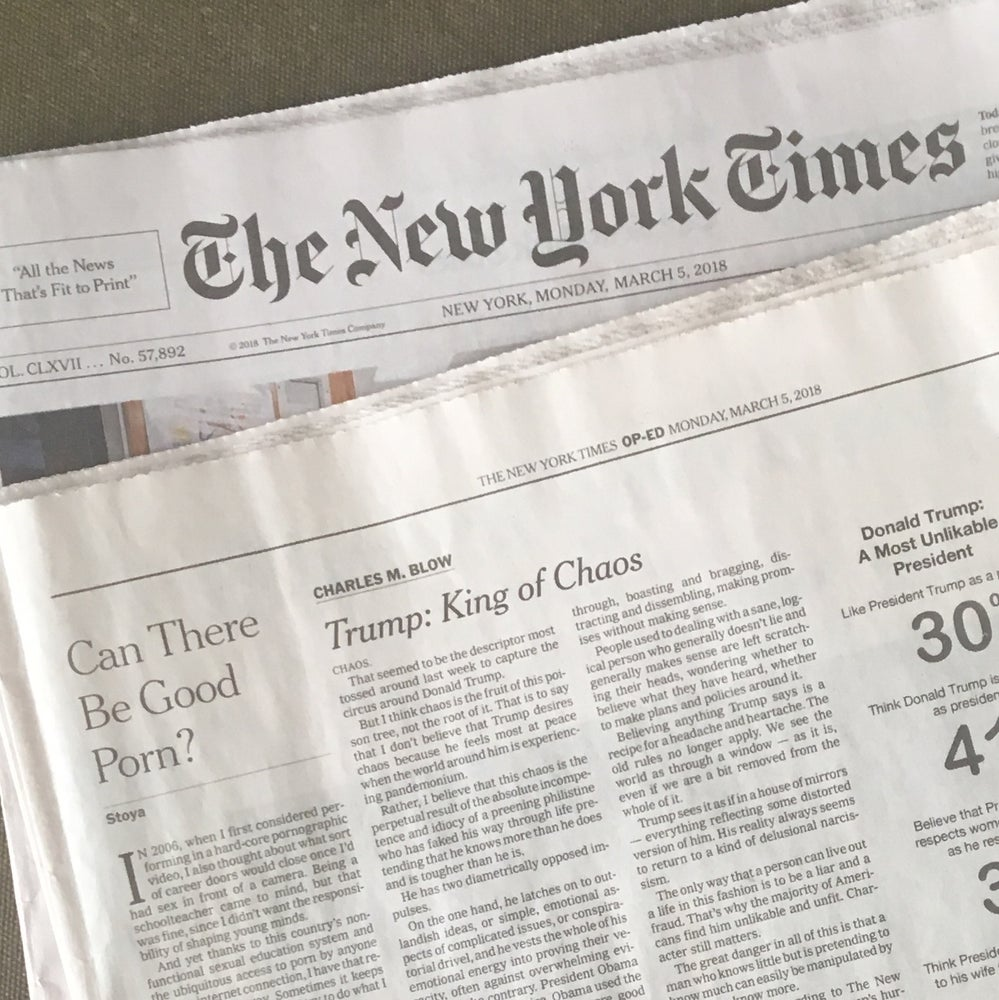 Image of NYT Op-ed, Signed