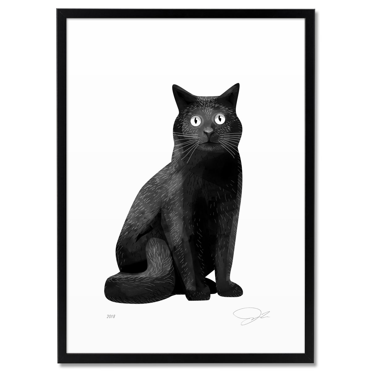 Image of Print Black Cat