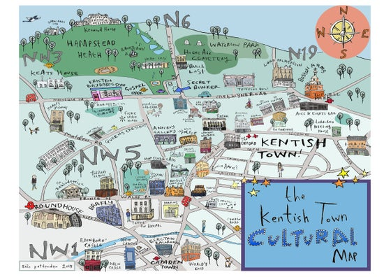 Image of Kentish Town Map
