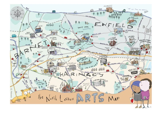 Image of North London Arts Map