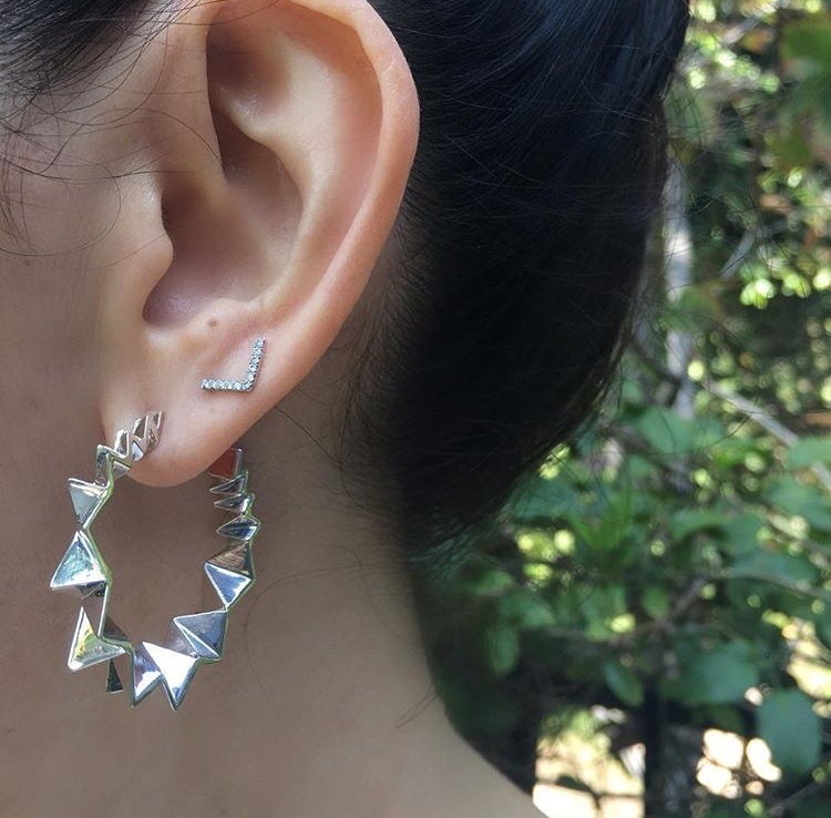 Image of Folded hoop earring