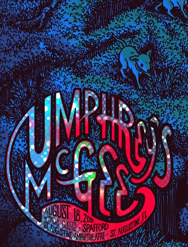 """Image of Umphrey's McGee - St. Augustine, FL 2018 - """"Dots on Dots"""" HoloFoil"""