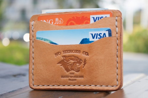 "Image of Comrade — ""Natural Tan"" Italian Cowhide Leather Card Holder"