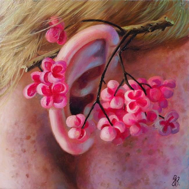 Image of Jana Brike 'The Listener' original art
