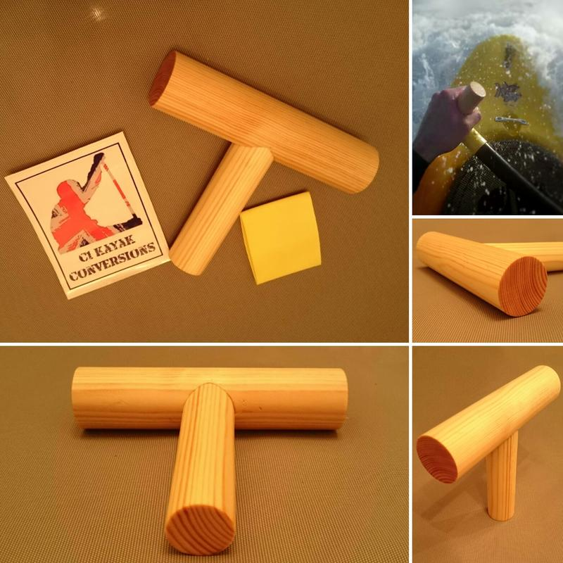 Image of Wooden T-Grip for Canoe Paddles