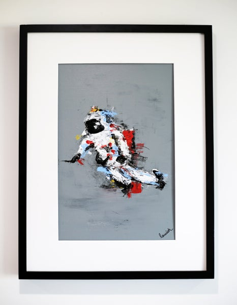 "Image of ""Spaceman #1"" Original Painting (Framed)"