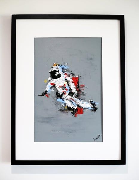 "Image of ""Spaceman #1"" Original Painting (Framed)"