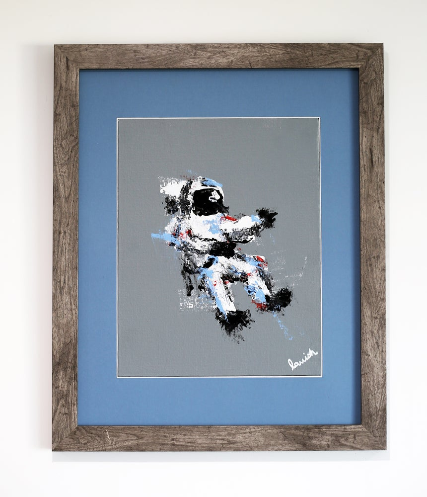 "Image of ""Spaceman #5"" Original Painting (Framed)"