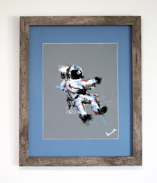 "Image of ""Spaceman #5"" Original Painting (Framed)"