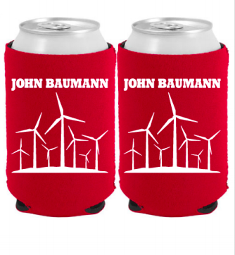 Image of Red Windmill Koozie