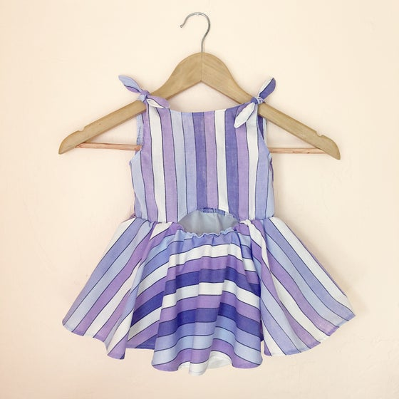 Image of MTO Sunset Stripe Picnic Dress or Romper