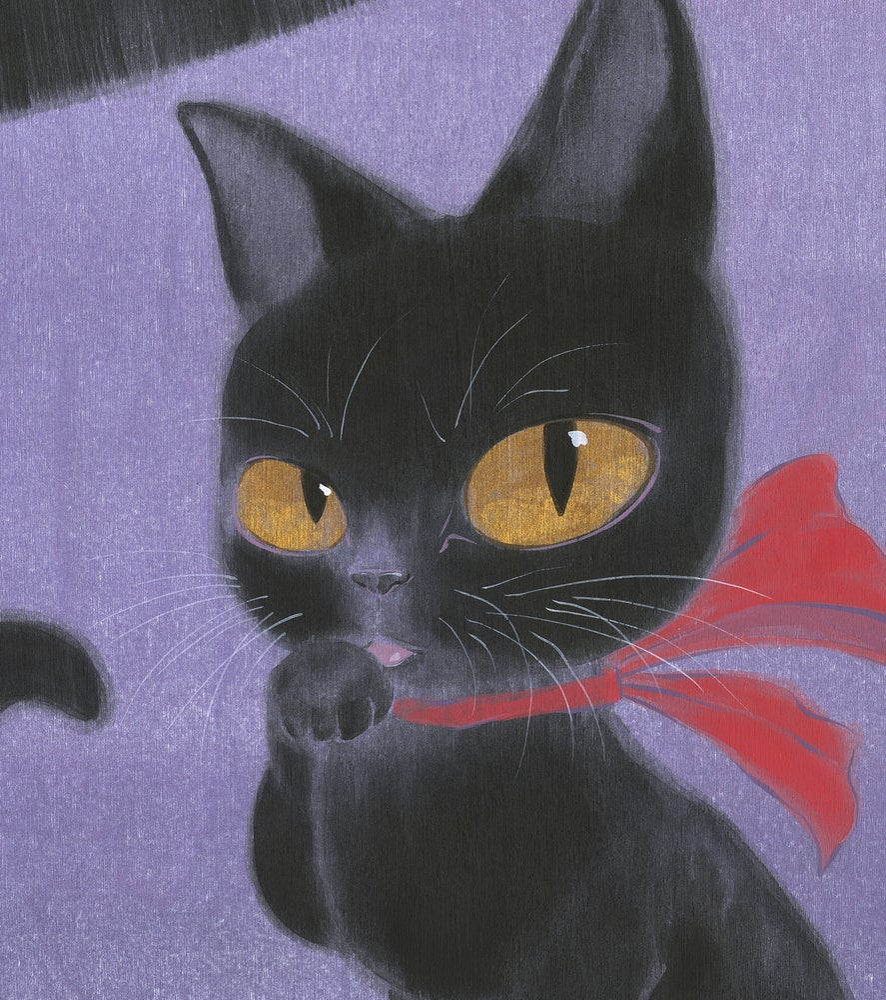 Image of Girl and Cat - Kiki and Jiji