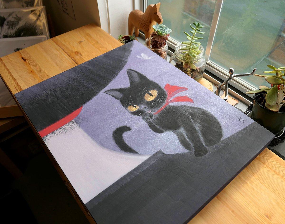 Girl and Cat - Kiki and Jiji