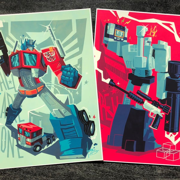 "Image of ""One Shall Stand"" Transformers Tribute Prints"