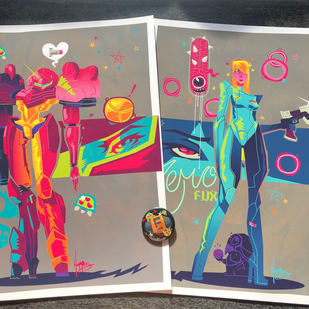 """Image of """"Dressed to Kill"""" Metroid Tribute Prints"""