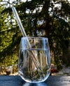 Clear Glass Drinking Straw 4 Pack + Brush