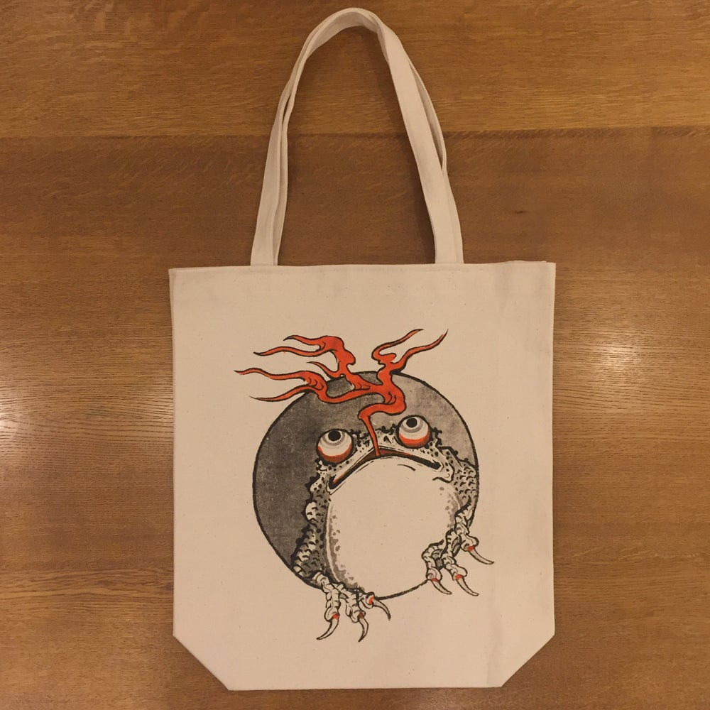 Image of GANJI FROGGY FIRE TOTE BAG