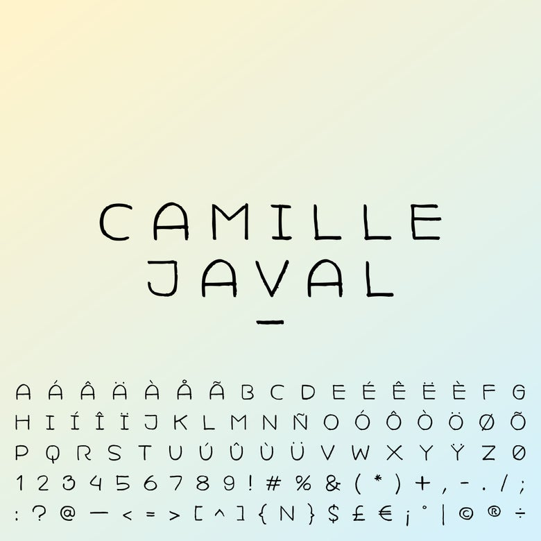 Image of Camille Javal Typeface – Licence for commercial use