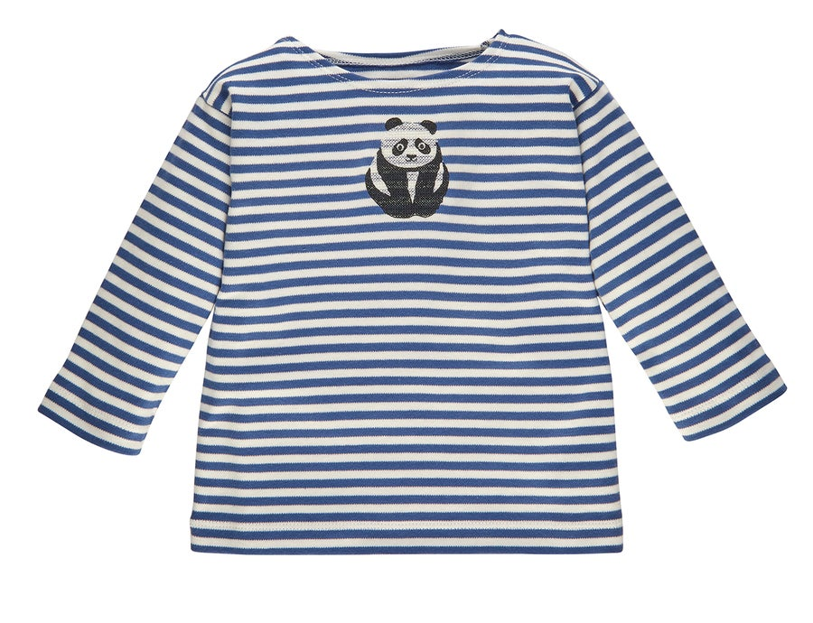 Image of SPECIAL PRICE T-Shirt blau gestreift mit Panda