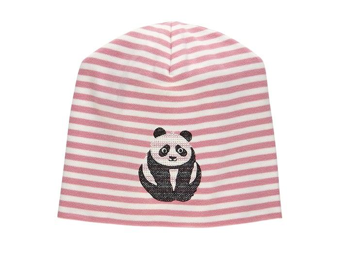 Image of SALE Mütze blau oder rose gestreift mit Panda