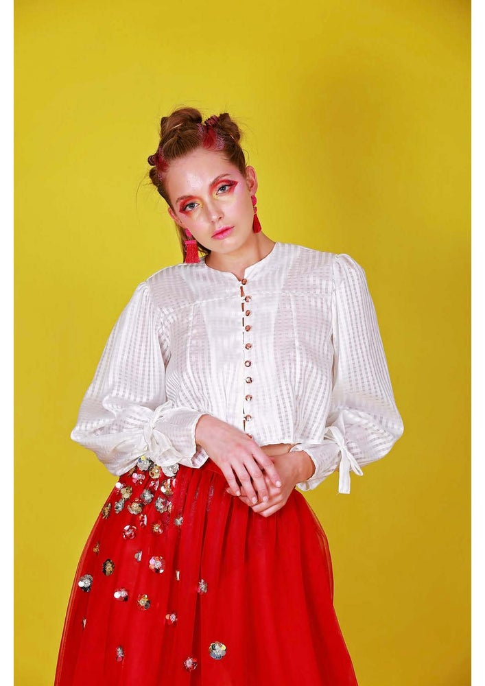 Image of JADE CHECK BLOUSE