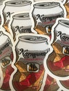 Narragansett Beer Can Sticker