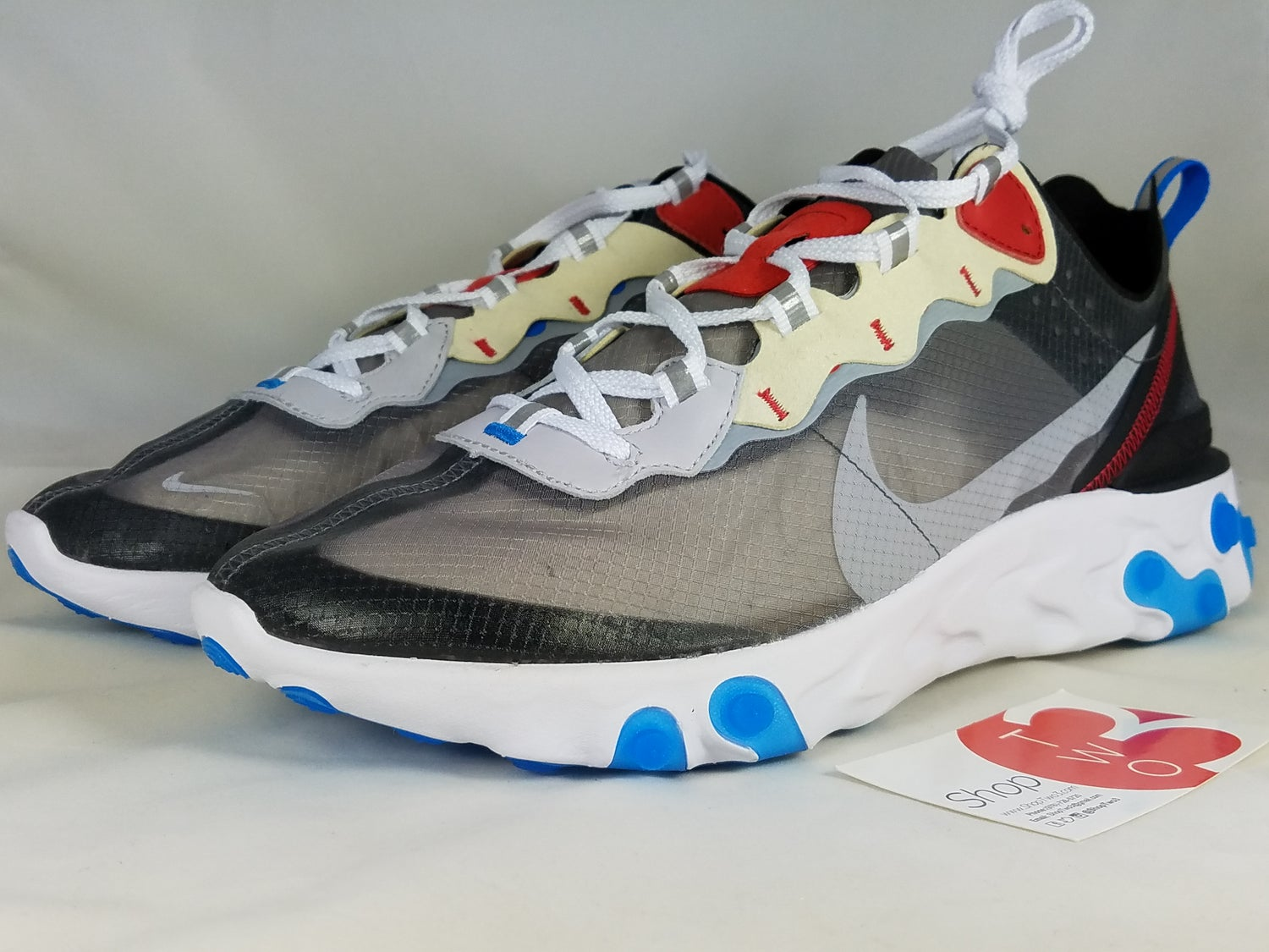 great deals fast delivery huge inventory Nike React Element 87 Dark Grey Photo Blue